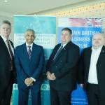 1. Keynote speaker John Czaplewski and Ravi Jayasundera with BBBF Executive Committee members Mike Jackson and Marke Gravener